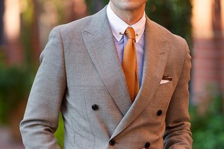 Italian-Inspired-Summer-Style-collar-bar-knitted-tie-orange